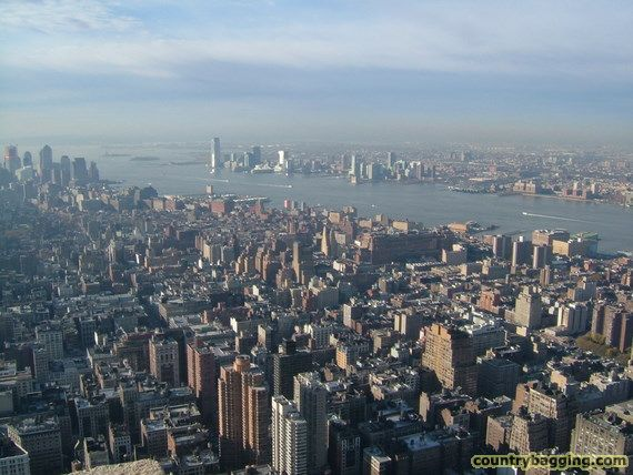 View from the Empire State Building - www.countrybagging.com