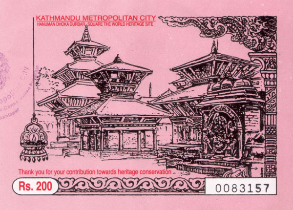 Durbar Square Ticket - www.countrybagging.com